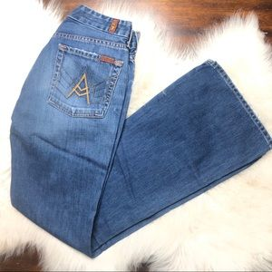 7 for all mankind A Pocket flare blue jeans